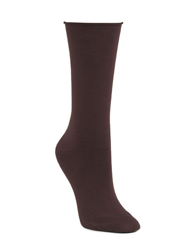 Mcgregor Bamboo Rayon Flat Knit Socks-BROWN-One Size