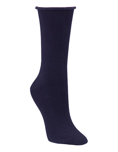 Mcgregor Bamboo Rayon Flat Knit Socks-NAVY-One Size