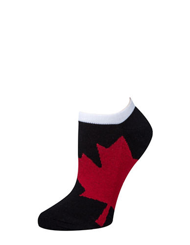 Mcgregor Womens Printed Ankle Socks-BLACK-One Size