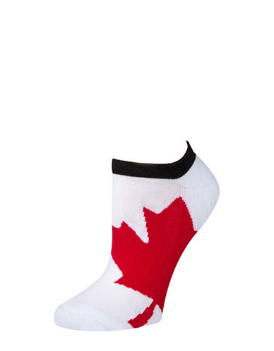 Mcgregor Womens Printed Ankle Socks-WHITE-One Size