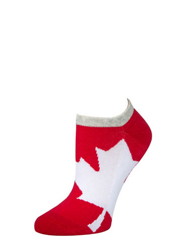 Mcgregor Womens Printed Ankle Socks-RED-One Size