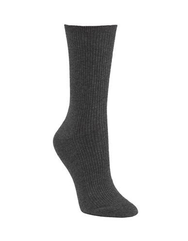Mcgregor Mercerized Ribbed Socks-GREY-One Size
