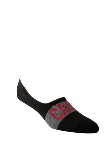 Calvin Klein Mens Big Logo No-Show Socks-BLACK-7-12 89193160_BLACK_7-12