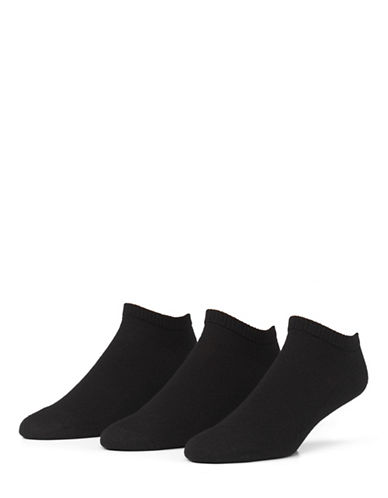 Mcgregor Mens Three-Pack Athletic Low Cut Socks-BLACK-7-12