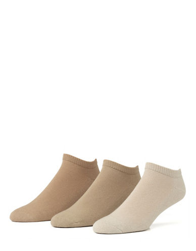 Mcgregor Mens Three-Pack Athletic Low Cut Socks-BEIGE-7-12