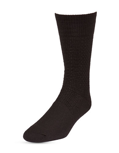 Mcgregor Mens Two-Pack Happy Foot Crew Socks-BLACK-6.5-8