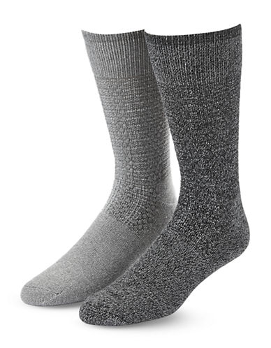 Mcgregor Mens Two-Pack Happy Foot Crew Socks-GREY-12-16