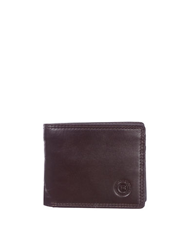 Club Rochelier Traditional Slimfold Leather Wallet-BROWN-One Size