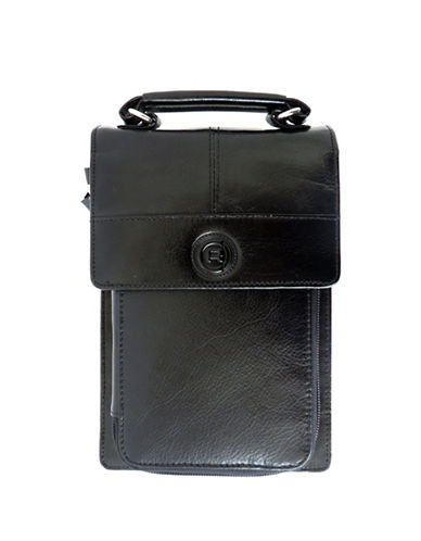 Club Rochelier Leather Organizer on a String Purse-BLACK-One Size