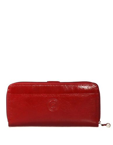 Club Rochelier Traditional Zip Around Clutch-RED-One Size
