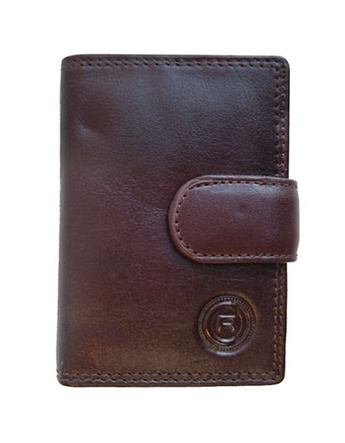 Club Rochelier Traditional Jumbo Card Holder-BROWN-One Size