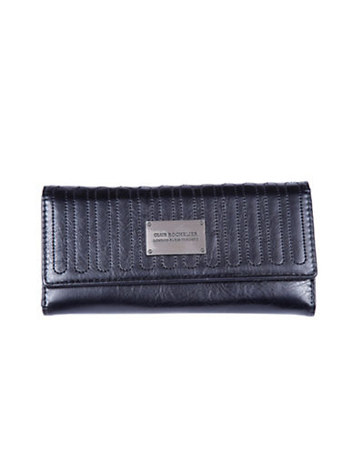 Club Rochelier Glam Slim Clutch Wallet-BLACK-One Size