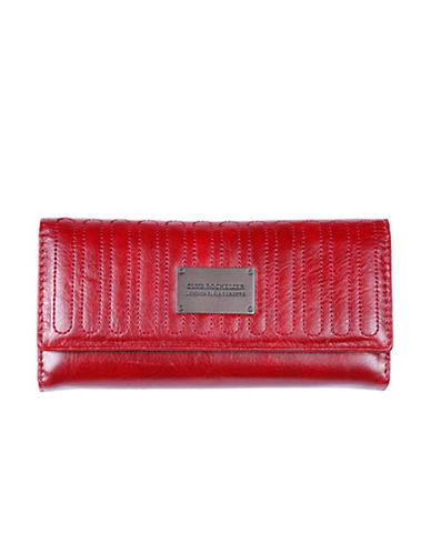 Club Rochelier Glam Slim Clutch Wallet-RED-One Size
