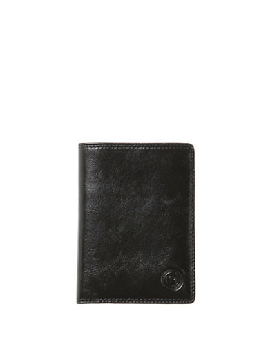 Club Rochelier Traditional Leather Passport Holder-BLACK-One Size