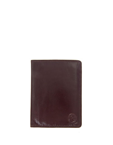 Club Rochelier Traditional Leather Passport Holder-RED-One Size