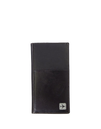 Club Rochelier In Flight Leather Ticket Wallet-BLACK-One Size