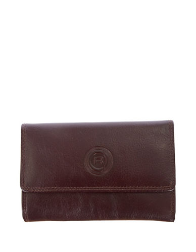 Club Rochelier Traditional Slim Clutch-MAHOGANY-One Size