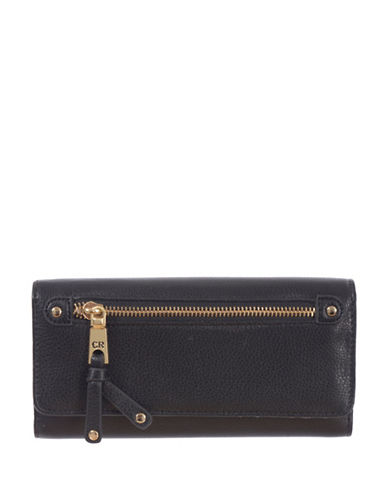 Club Rochelier Celestine Cheque Book Wallet-BLACK-One Size