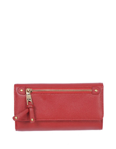Club Rochelier Celestine Cheque Book Wallet-RED-One Size