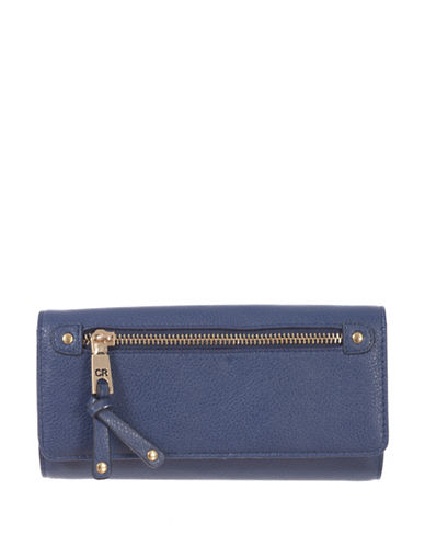 Club Rochelier Celestine Cheque Book Wallet-BLUE-One Size