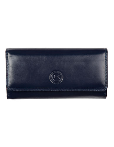 Club Rochelier Traditional Clutch With Removable Checkbook Flap-NAVY-One Size