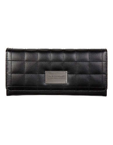 Club Rochelier Quilted Clutch Wallet-BLACK-One Size
