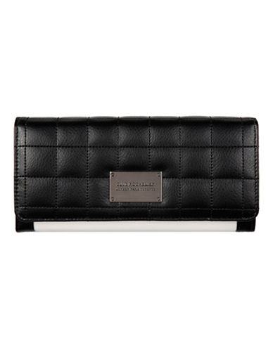 Club Rochelier Quilted Clutch Wallet-WHITE BLACK-One Size
