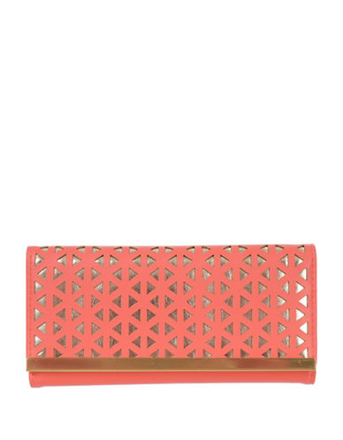 Club Rochelier Reese Slim Fold Wallet-ORANGE-One Size