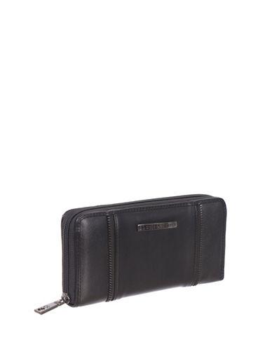 Club Rochelier Shelley Zip-Around Wallet-BLACK-One Size