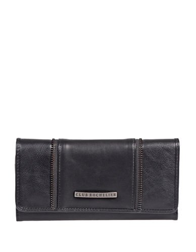 Club Rochelier Shelley Slim Clutch Wallet-BLACK-One Size