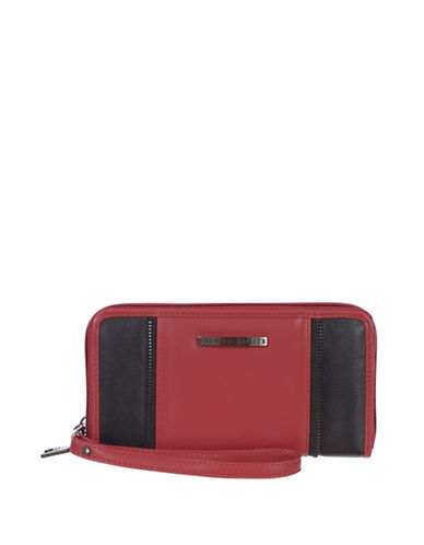 Club Rochelier Shelley Zip-Around Wristlet and Cellphone Holder-RED-One Size