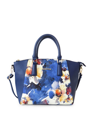 Club Rochelier Floral Design Dome Tote-BLUE-One Size