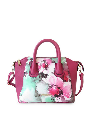 Club Rochelier Floral Design Tote-PINK-One Size