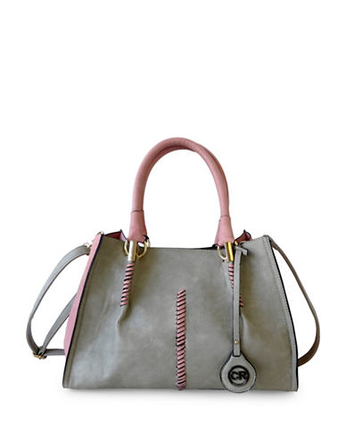 Club Rochelier Stitch Detail Tote-PINK-One Size