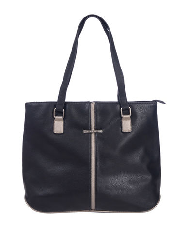 Club Rochelier Large Tote Bag-BLACK-One Size