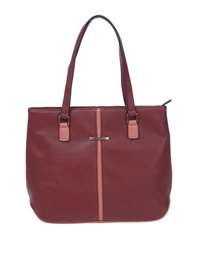 Club Rochelier Large Tote Bag-RED-One Size