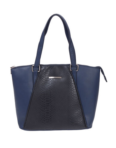 Club Rochelier Large Zip Tote Bag-BLUE-One Size