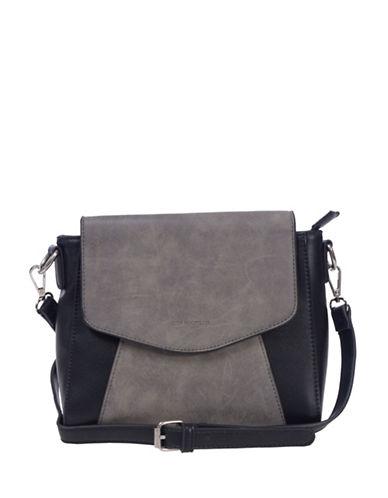 Club Rochelier Mixed Media Crossbody Bag-BROWN-One Size