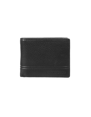Club Rochelier Textured Slimfold Wallet-BLACK-One Size