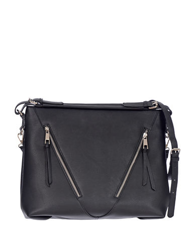 Club Rochelier Pebble Textured Tote-BLACK-One Size 89209418_BLACK_One Size
