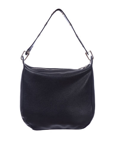 Club Rochelier Eyelet Detailed Hobo-BLACK-One Size