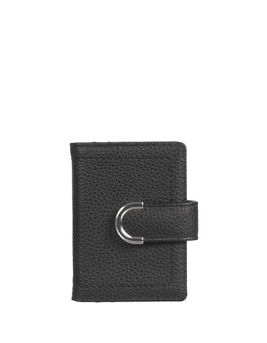 Club Rochelier Sleek Textured Cardholder-BLACK-One Size
