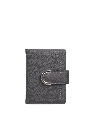 Club Rochelier Sleek Textured Cardholder-GREY-One Size