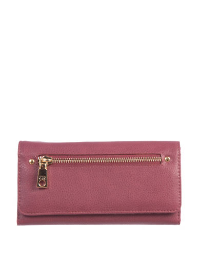 Club Rochelier Traditional Continental Wallet-PINK-One Size