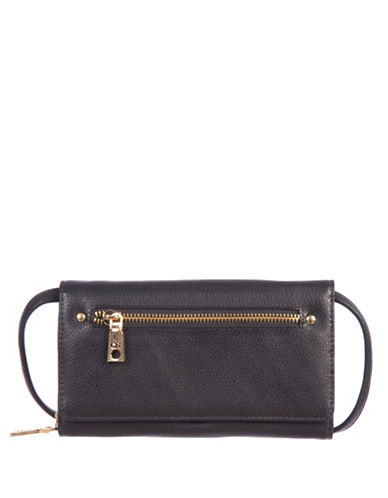 Club Rochelier Textured Luxe Clutch-BLACK-One Size