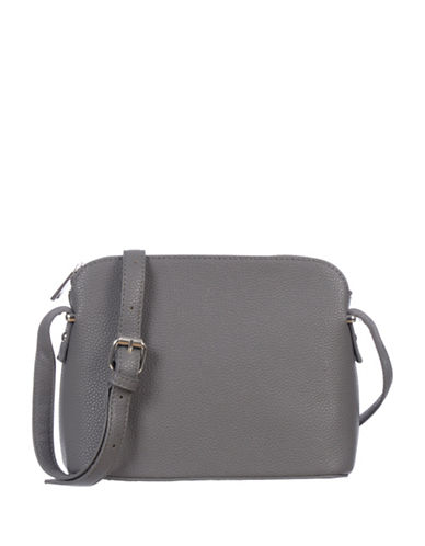 Club Rochelier Textured Dome Satchel-GREY-One Size