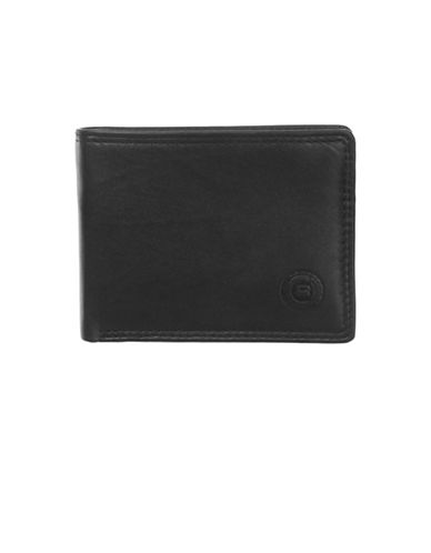 Club Rochelier Traditional Slimfold Leather Wallet-BLACK-One Size