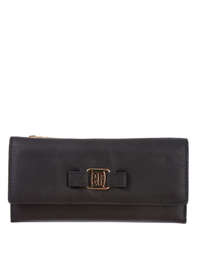 Club Rochelier Slim Tri-Fold Wallet-JET BLACK-One Size