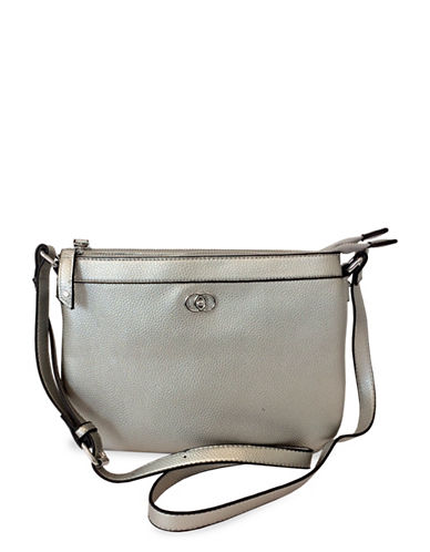 Club Rochelier Textured Crossbody Bag-SILVER-One Size