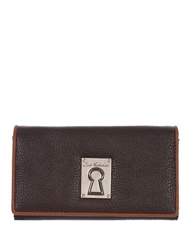 Club Rochelier Medium Slim Tri-Fold Wallet-CHOCOLATE-One Size